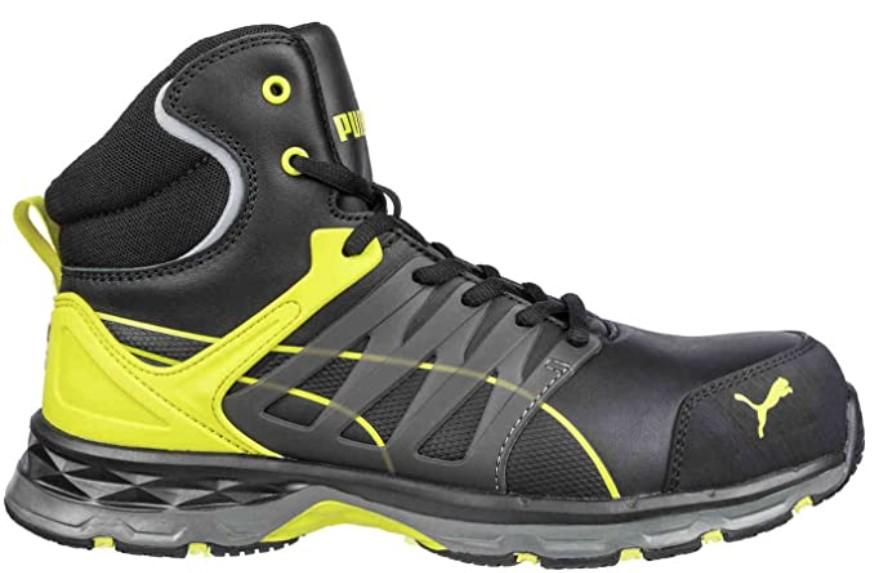 Chaussures de sécurité Hautes Puma - Velocity 2.0 Yellow Mid S3 ESD HRO SRC