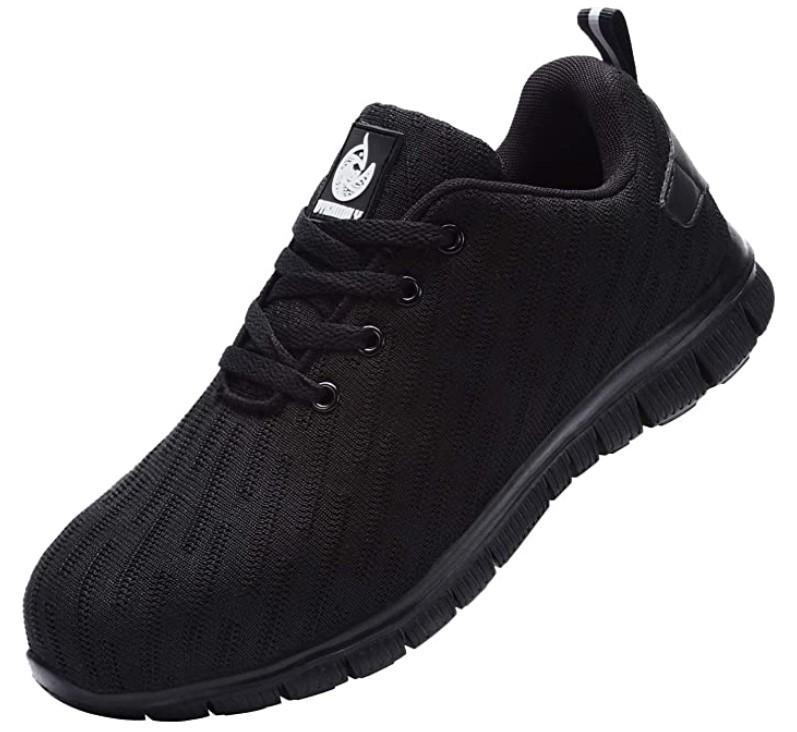 chaussures de sécurité noires pieds sensibles - DYKHMILY